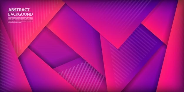 Fondo de formas de triángulos degradados coloridos