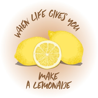 Fondo con frase de limones