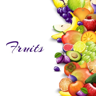 Fondo de frontera de frutas