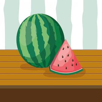 Fondo de frutas tropicales
