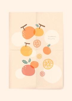 Fondo de frutas de verano