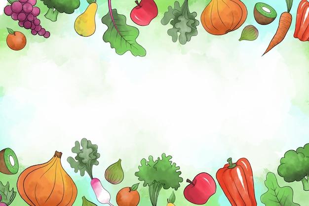 Fondo con frutas y verduras