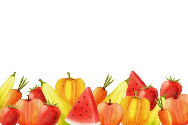 Fondo de frutas y verduras