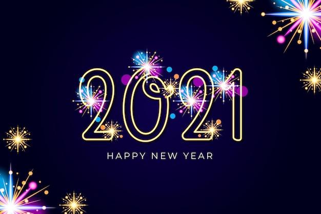 Fondo de fuegos artificiales año nuevo 2021