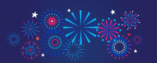 Fondo de fuegos artificiales y celebraciones.