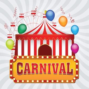 El fondo del funfair de carnaval