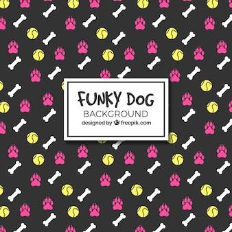 Fondo funky de perros