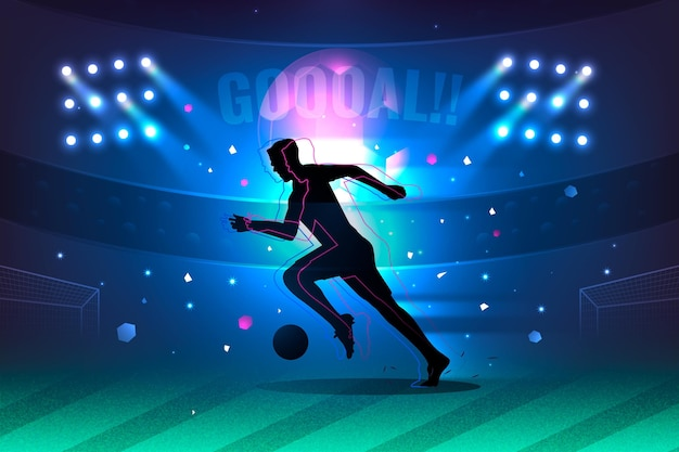 Fondo de fútbol abstracto realista