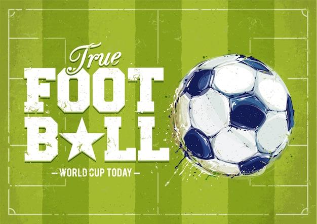 Fondo de fútbol dibujado a mano