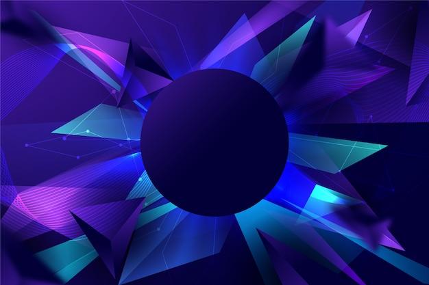 Fondo futurista abstracto con formas afiladas