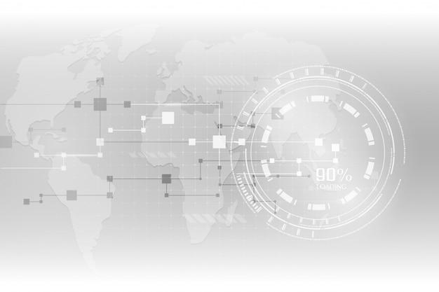 Fondo futurista abstracto gris de alta tecnología