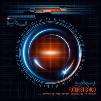 Fondo futurista abstracto de hud