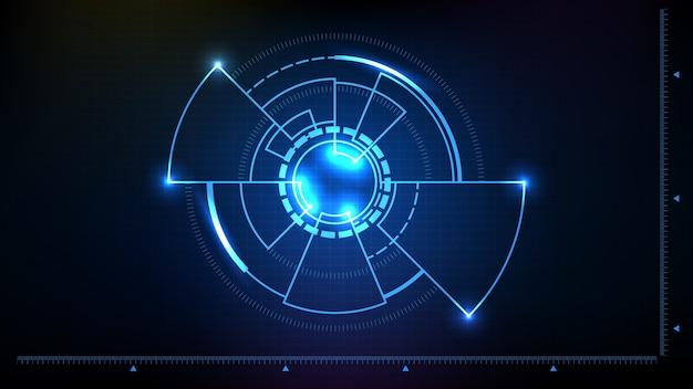 Fondo futurista abstracto de la interfaz de círculo sci fi hud ui