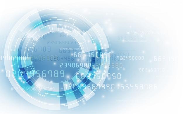 Fondo futurista abstracto de la tecnología digital.