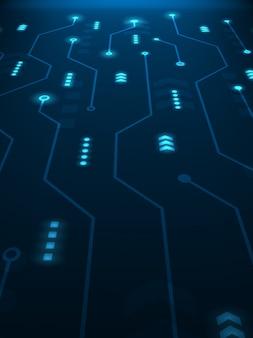 Fondo futurista abstracto de la tecnología