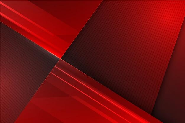 Fondo futurista abstracto en tonos rojos