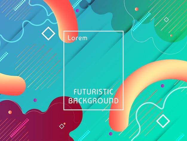 Fondo futurista abstracto del verde del techno