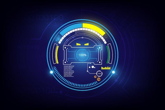 Fondo futurista de alta tecnología de ciencia ficción