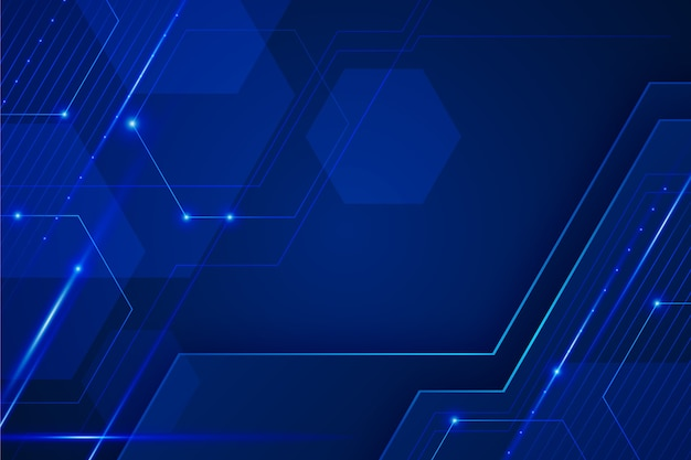 Fondo futurista azul abstracto
