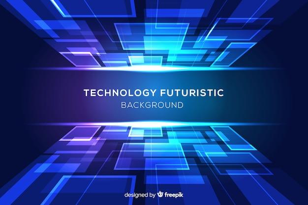 Fondo futurista azul con formas