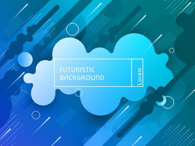 Fondo futurista colorido elegante moderno