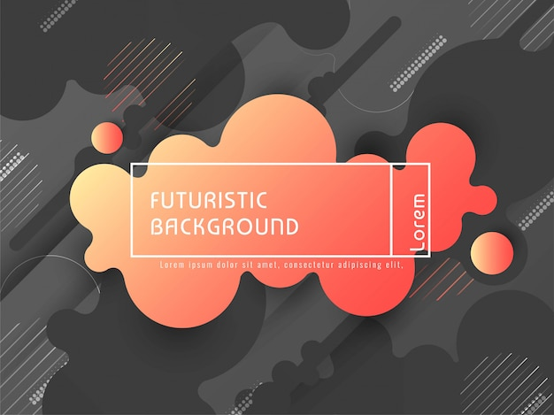 Fondo futurista colorido con estilo abstracto del vector