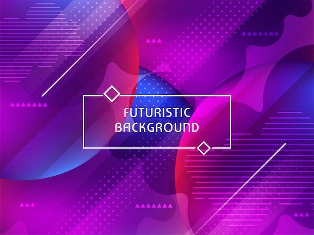 Fondo futurista con estilo moderno abstracto
