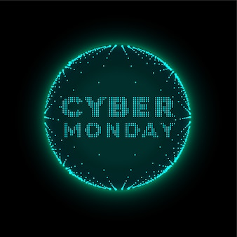 Fondo futurista de estilo de tecnología de ciber lunes