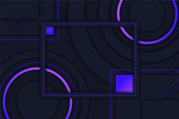 Fondo futurista geométrico abstracto vector gratuito