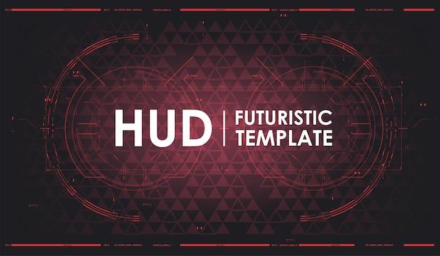 Fondo futurista de hud. plantilla de fondo abstracto de tecnología. pantalla de tecnología de realidad virtual. pantalla de diseño de realidad virtual futurista.