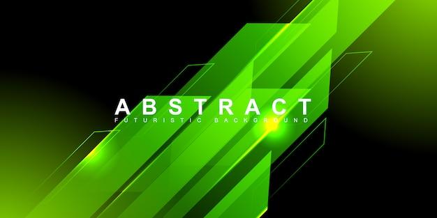 Fondo futurista con luz de alta velocidad de neón verde