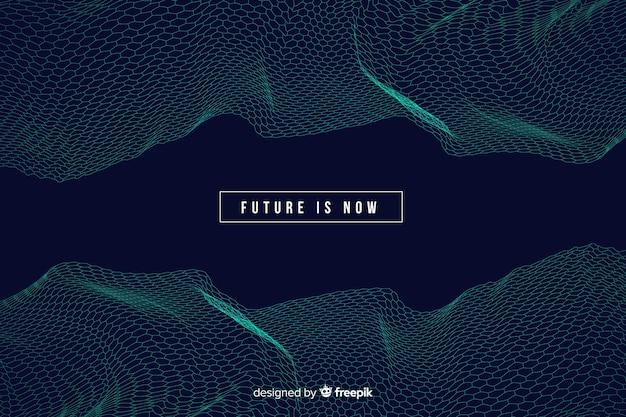 Fondo futurista de malla hexagonal