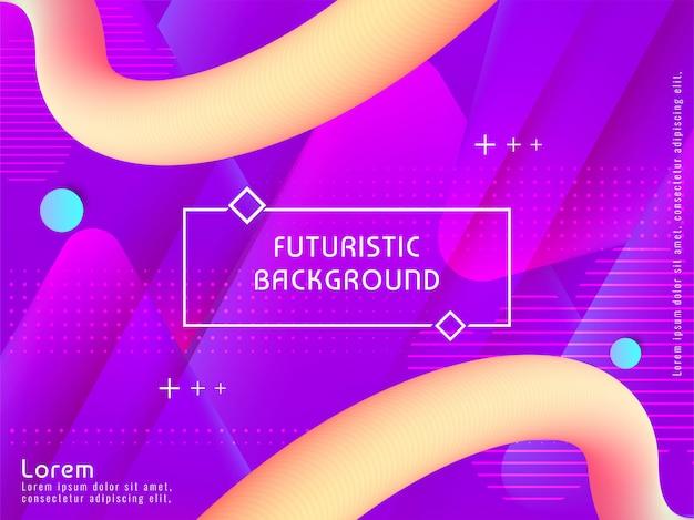 Fondo futurista moderno abstracto