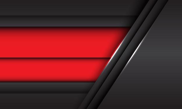 Fondo futurista moderno de la textura del fondo del diseño metálico gris rojo abstracto de la superposición.