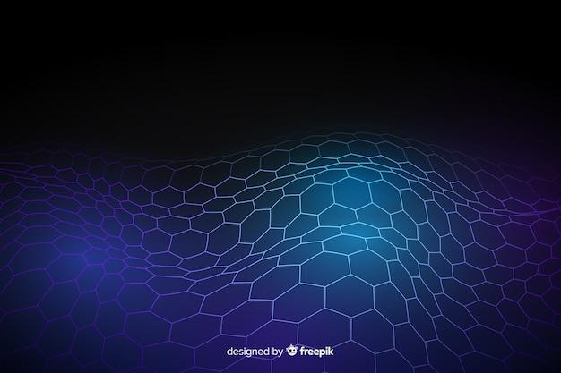 Fondo futurista neto hexagonal