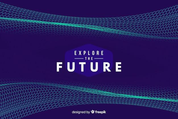 Fondo futurista con red hexagonal