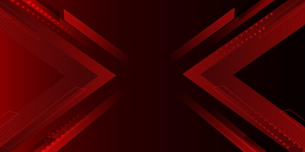 Fondo futurista rojo de alta tecnología