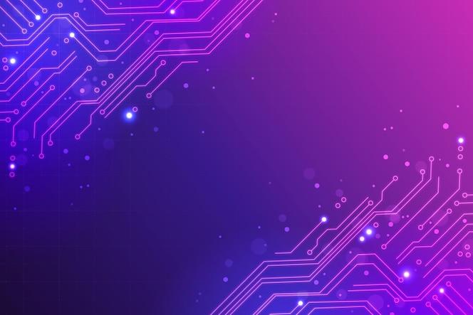 Fondo futurista de tecnología degradada