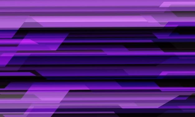 Fondo futurista de la tecnología moderna del modelo geométrico del circuito cibernético negro violeta abstracto