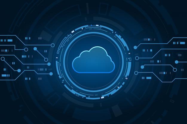 Fondo futurista de la tecnología moderna de la nube