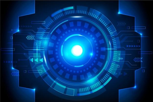 Fondo futurista de la tecnología del ojo cibernético