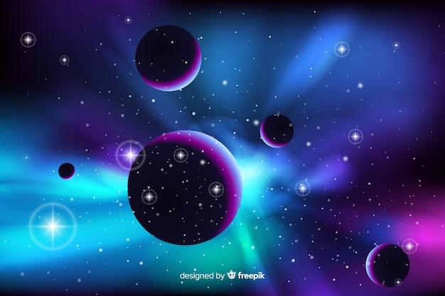 Fondo galaxia abstracta de neón
