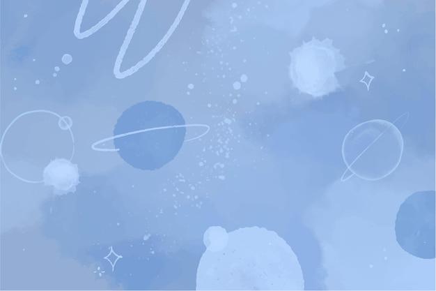 Fondo de galaxia acuarela pintada a mano