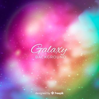 Fondo de galaxia borrosa colorida