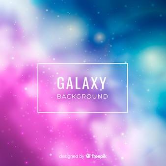 Fondo de galaxia borrosa elegante
