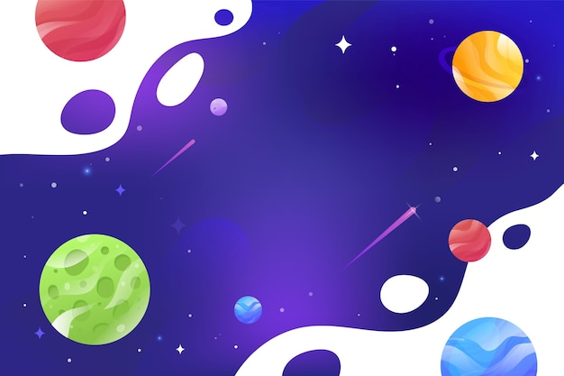 Fondo de galaxia de dibujos animados