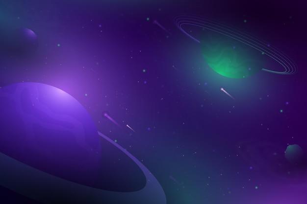 Fondo de galaxia de estilo degradado