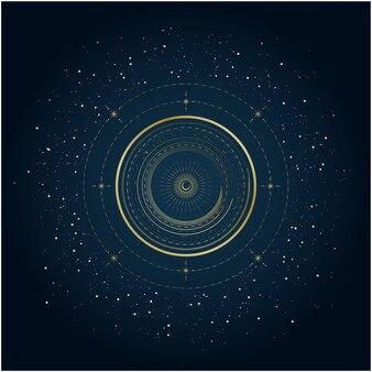Fondo de galaxia de lujo