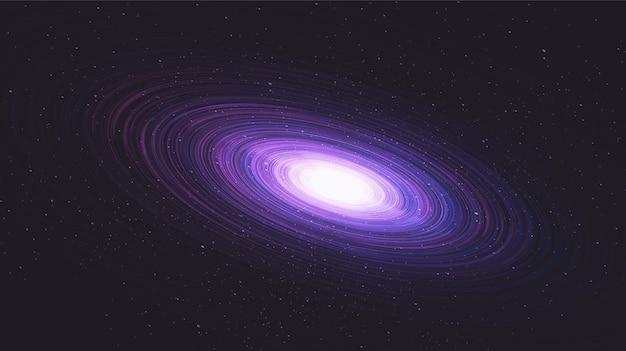 Fondo de galaxia moderna con espiral de la vía láctea, universo y concepto estrellado