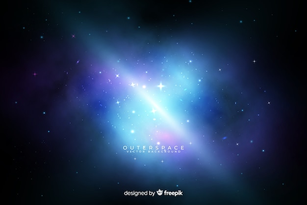 Fondo galaxia nebulosa colorida